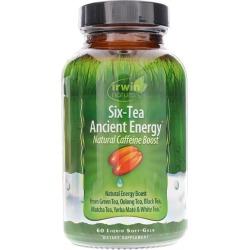 Irwin Naturals Six-Tea Ancient Energy 60 Liquid Softgels