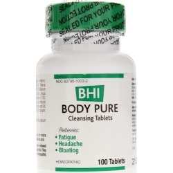 BHI Body Pure Cleansing Tablets 100 Tablets