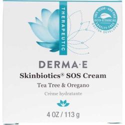 Derma E Skinbiotics SOS Cream Tea Tree & Oregano 4 Oz