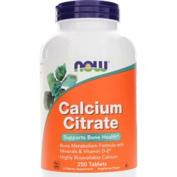 NOW Foods Calcium Citrate Tablets 250 Tablets