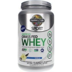 Garden of Life Sport Certified Grass Fed Whey Protein Vanilla 23 Oz