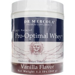 Dr. Mercola Pro-Optimal Whey Protein Drink Mix Vanilla 1.2 Lbs