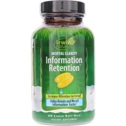 Irwin Naturals Mental Clarity Information Retention 60 Liquid Softgels