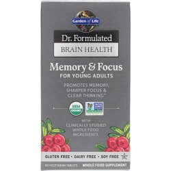 Garden of Life Dr. Formulated Brain Health Memory & Focus for Young Adults 60 Veg Tablets