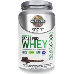 Garden of Life Sport Certified Grass Fed Whey Protein Chocolate 23.28 Oz
