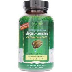 Irwin Naturals Mega B-Complex 60 Liquid Softgels