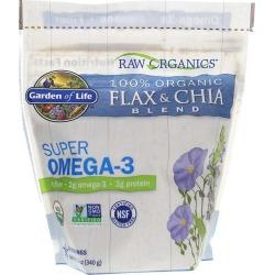 Garden of Life Raw Organics Super Omega-3 Flax Seed & Chia Seed 12 Oz
