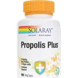Solaray Propolis Plus, All Natural Formula 90 Veg Capsules