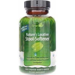 Irwin Naturals Nature's Laxative Stool-Softener 60 Liquid Softgels
