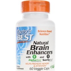 Doctors Best Natural Brain Enhancers 60 Veg Capsules