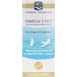 Nordic Naturals Omega-3 Pet Liquid Cats & Small Dogs 2 Oz