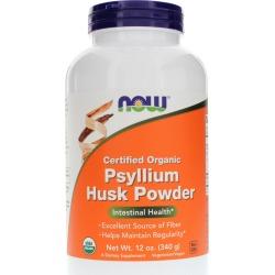 NOW Foods Psyllium Husk Powder Organic 12 Oz
