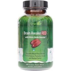 Irwin Naturals Brain Awake RED 60 Liquid Softgels
