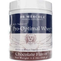 Dr. Mercola Pro-Optimal Whey Protein Drink Mix Chocolate 1.2 Lbs