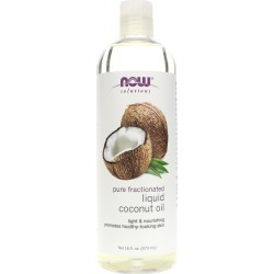 NOW Foods Pure Fractionated Liquid Coconut Oil 16 Oz