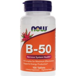 NOW Foods B-50 Tablets 100 Tablets