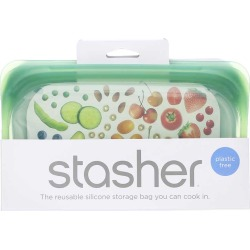 Stasher Reusable Silicone Snack Bag 1 Bags found on Bargain Bro Philippines from natural healthy concepts for $9.99