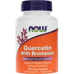 NOW Foods Quercetin with Bromelain 120 Veg Capsules