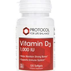 Protocol For Life Balance Vitamin D3 1,000 IU 120 Softgels