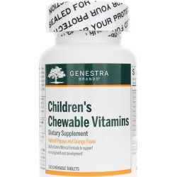Genestra Children's Chewable Vitamins Papaya & Orange Flavor 100 Chewable Tablets
