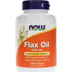 NOW Foods Flax Oil 1000 Mg 100 Softgels