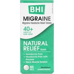 BHI Migraine Relief Tablets 100 Tablets