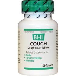 BHI Cough Relief Tablets 100 Tablets
