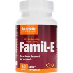 Jarrow Formulas Famil-E Vitamin E 60 IU 60 Softgels