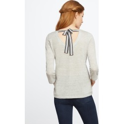 Make A Bow Top, Silver Mix, Large by NIC+ZOE