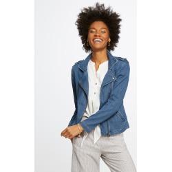 Denim Biker Jacket Pants, Classic Wash, Medium by NIC+ZOE found on MODAPINS from nic+zoe for USD $94.99