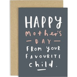 Favourite Child Mother's Day Card