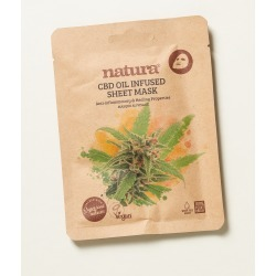 Natura CBD Oil Infused Anti-Inflammatory & Healing Sheet Mask found on Bargain Bro UK from Oliver Bonas Ltd
