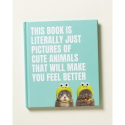 This Book is Literally Just Pictures of Cute Animals Book found on Bargain Bro UK from Oliver Bonas Ltd