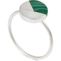 Orson Circle & Green Malachite Segment Silver Ring found on Bargain Bro UK from Oliver Bonas Ltd
