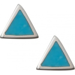 Isla Turquoise Triangle Silver Stud Earrings found on MODAPINS from Oliver Bonas Ltd for USD $22.94