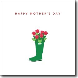 Green Boot Mother's Day Card