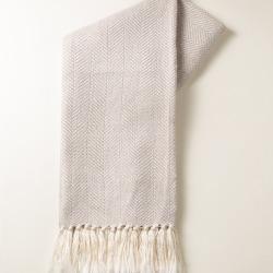 Enlightenment Grey & Gold Thread Throw found on Bargain Bro UK from Oliver Bonas Ltd