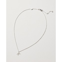 Alphabet Twisted Initial Silver Pendant Necklace found on Bargain Bro UK from Oliver Bonas Ltd