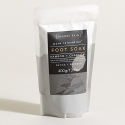 Sunday Rain Bamboo & Charcoal Foot Soak found on Bargain Bro UK from Oliver Bonas Ltd