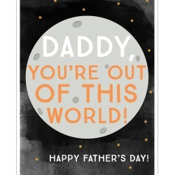 Out of This World Father's Day Card