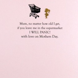 Supermarket Mother's Day Card