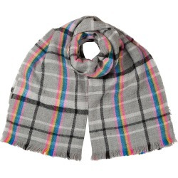 Rainbow Check Grey Soft Knitted Scarf found on Bargain Bro UK from Oliver Bonas Ltd