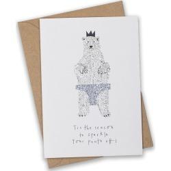 Sparkly Pants Polar Bear Christmas Card