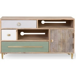 Tessa Unstained Mango Wood TV Cabinet found on Bargain Bro UK from Oliver Bonas Ltd for $598.07