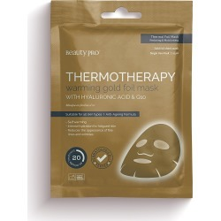 BeautyPro Thermotherapy Warming Gold Foil Mask found on Makeup Collection from Oliver Bonas Ltd for GBP 6.18