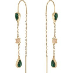 Anja Thread Through Stone & Gold Plated Drop Earrings found on Bargain Bro UK from Oliver Bonas Ltd