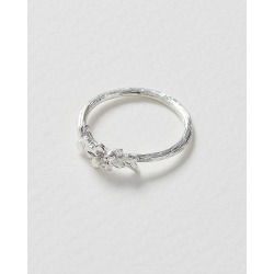 Bacopa Floral Silver Ring found on Bargain Bro UK from Oliver Bonas Ltd