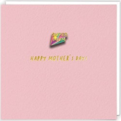 Super Mum Pin Mothers Day Card