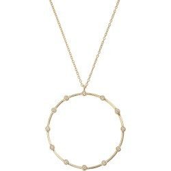 Delta Circle & Dot Gold Plated Pendant Necklace found on Bargain Bro UK from Oliver Bonas Ltd