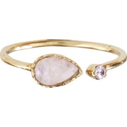 Odion Teardrop Moonstone Open Gold Plated Ring found on Bargain Bro UK from Oliver Bonas Ltd
